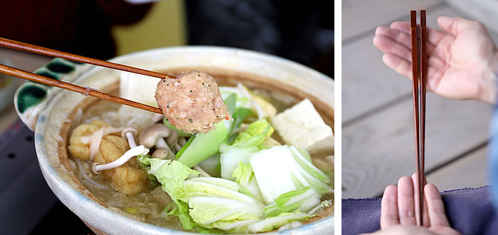 天削りうるし取り箸(菜箸)