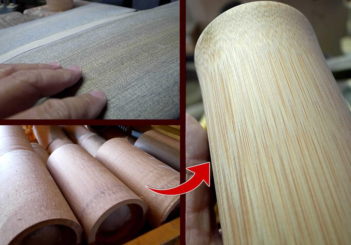 竹グラスの光沢