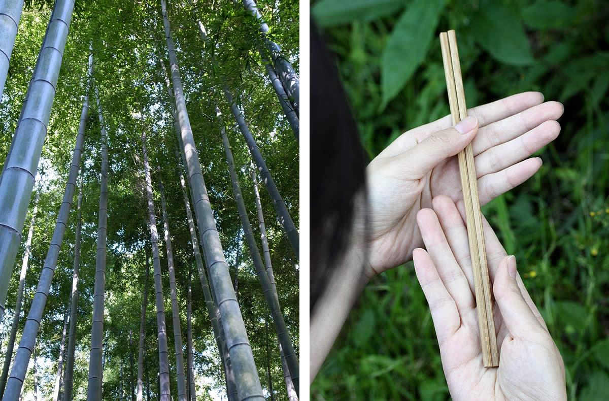 孟宗竹,国産竹割箸