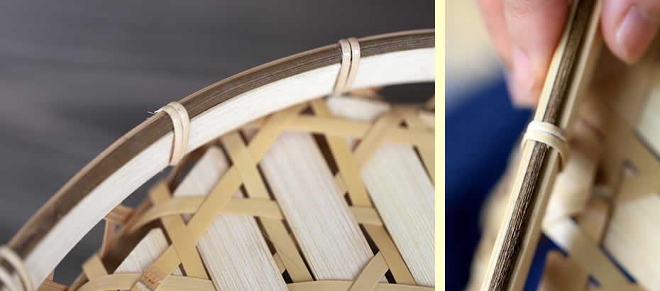 白竹六角足付椀籠,竹職人,足付き