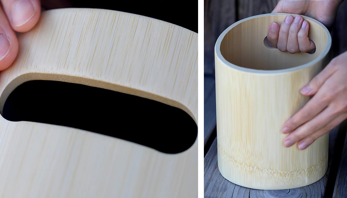 竹ワインクーラー、持ち手
