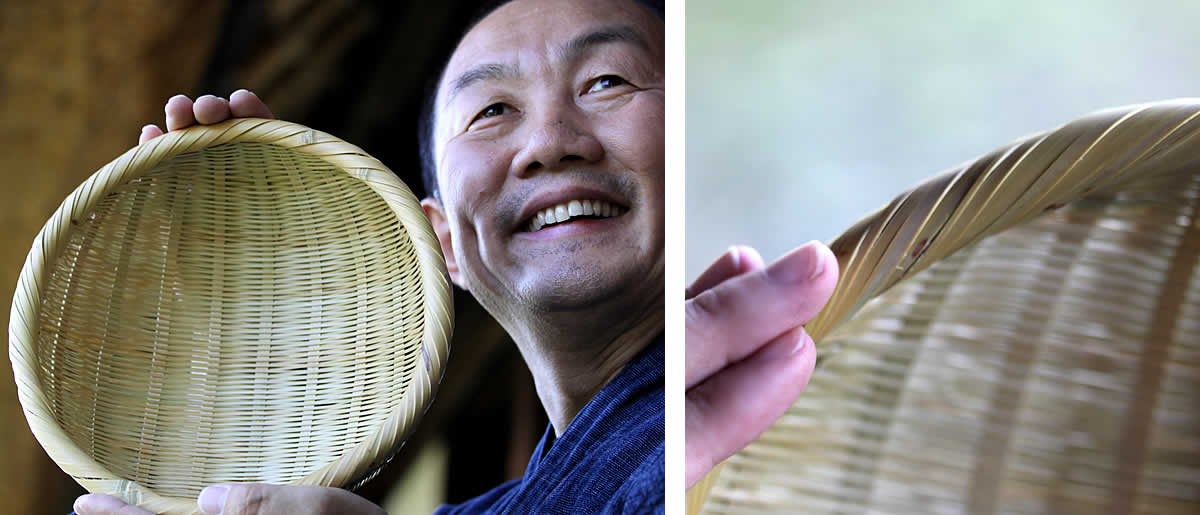 米とぎざる(3合用)の口巻き部分