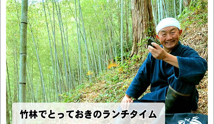 竹林でとっておきのランチタイム