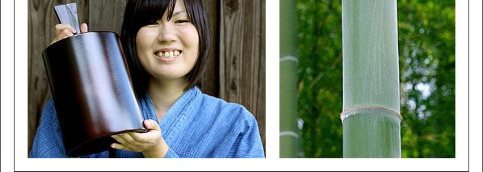 竹のワインクーラー