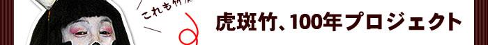 虎斑竹、100年プロジェクト