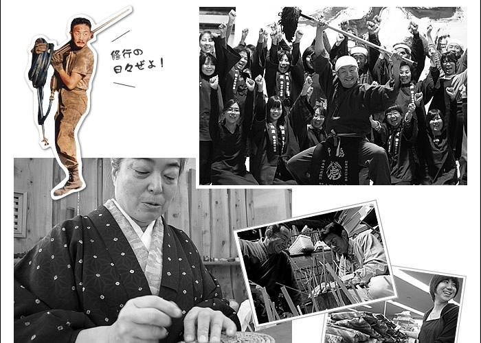 竹皮弁当箱職人と動画撮影風景