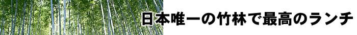 日本唯一の竹林で最高のランチ