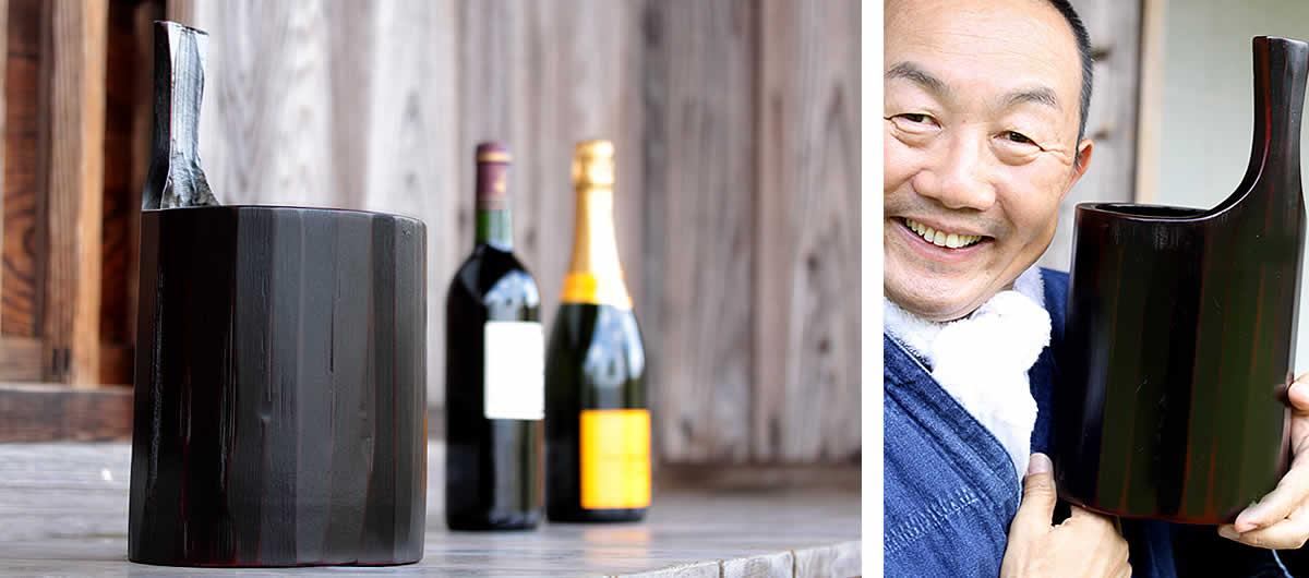 極太孟宗竹のワインクーラー