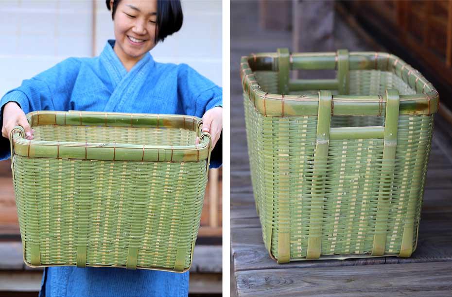 真竹野菜かご(御用籠)