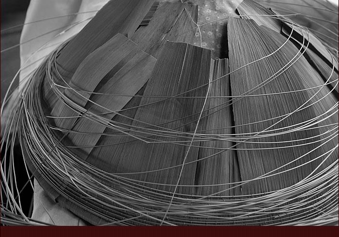 竹皮まんじゅう笠の製造