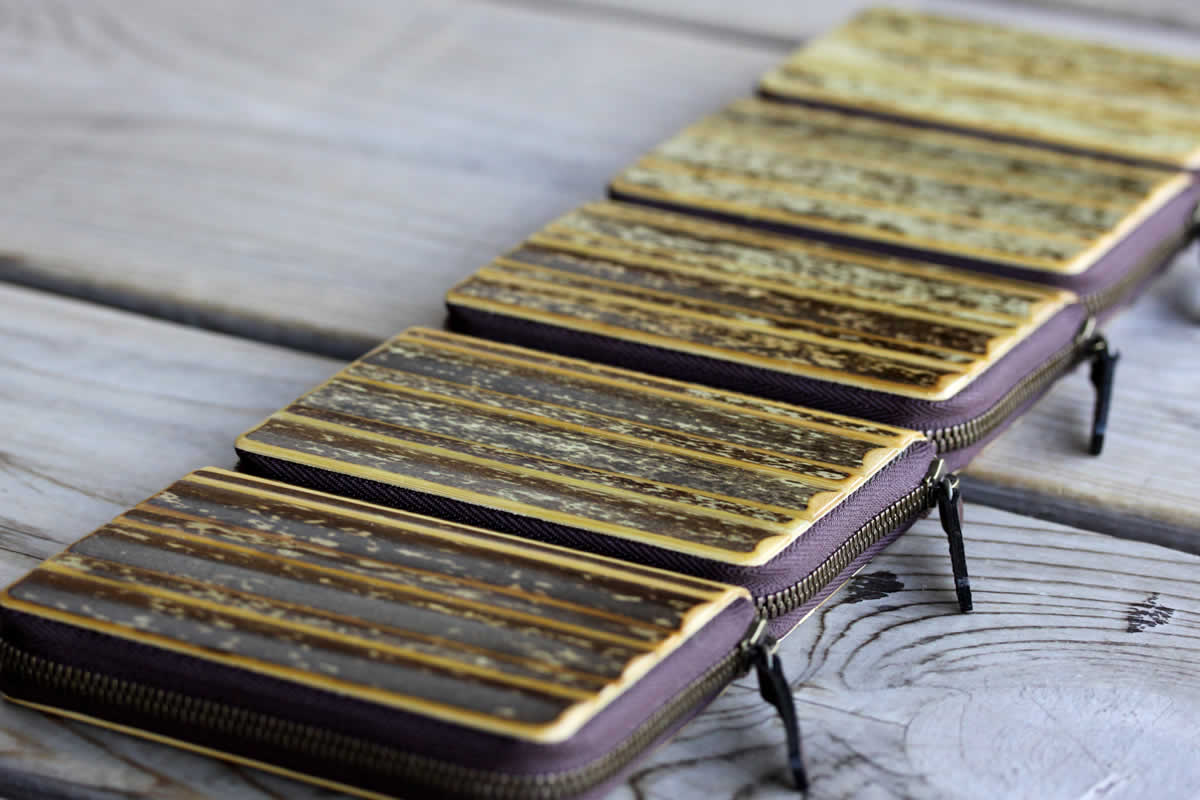 虎竹カード入れ、虎斑竹、カードケース、カードホルダー、コインケース、竹虎