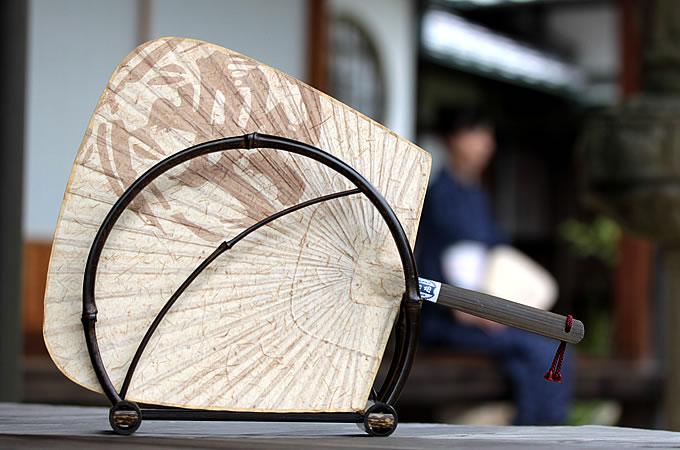虎竹和紙団扇