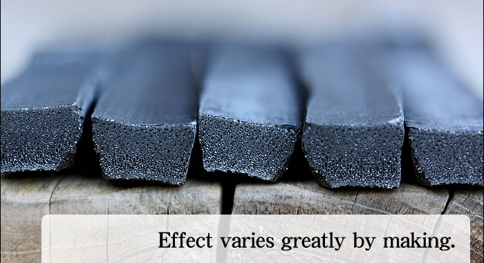 Bamboo charcoal Effect varies greatly by making.
