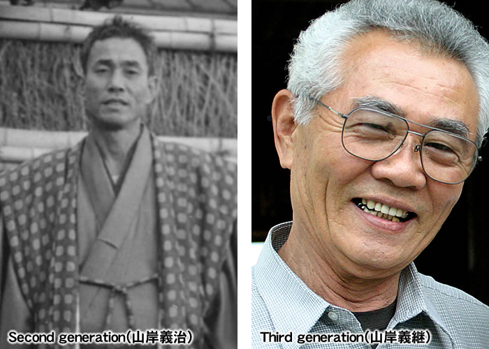 Second generation(山岸義治)とThird generation(山岸義継)