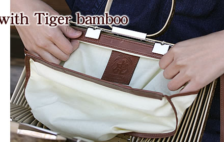 Inner bag dyed with Tiger bamboo