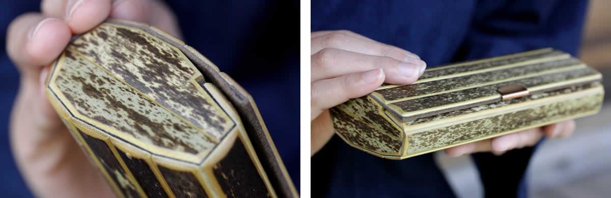 虎竹眼鏡ケース、めがねケース、めがね入れ、メガネケース、メガネ入れ、虎斑竹、竹製