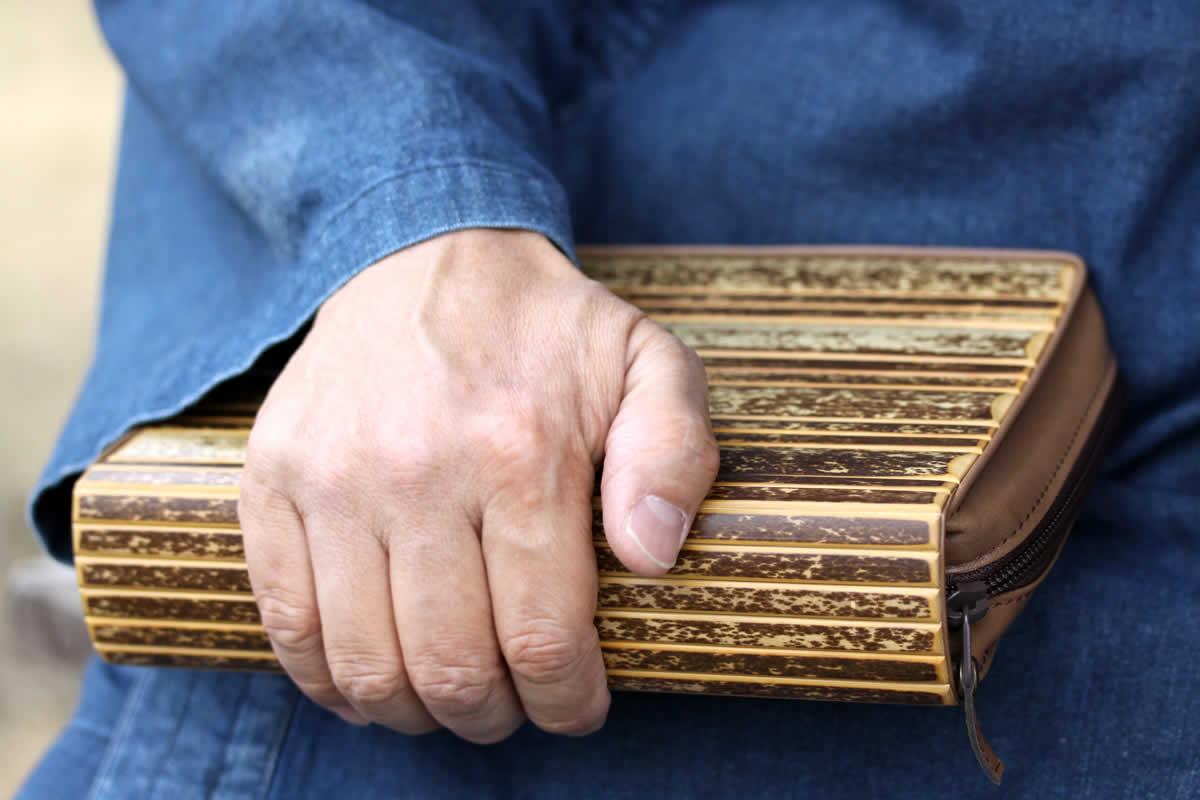 虎竹システム手帳,カバー,スケジュール帳,ケース,バイブルサイズ,竹製