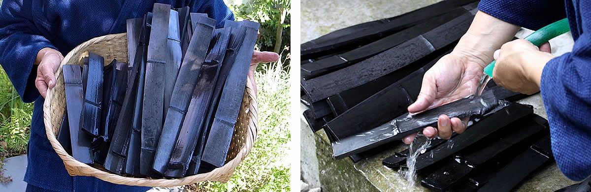 癒しの竹炭セット、竹炭のお手入れ