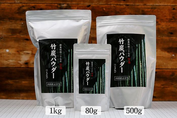 竹炭パウダーの包装