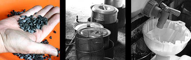 竹炭の洗い水の作り方