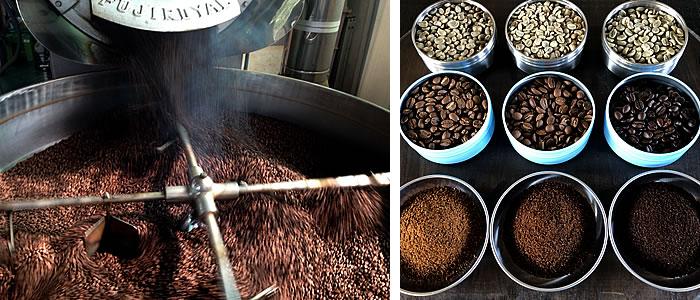 竹炭珈琲製造,焙煎