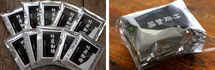 竹炭珈琲ドリップバッグコーヒー(10g×10袋)