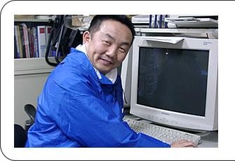 パソコンの前で一仕事