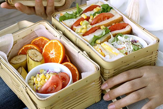 白竹二段ミニ弁当箱