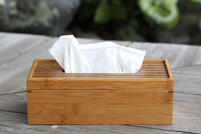 竹網代ティッシュケース