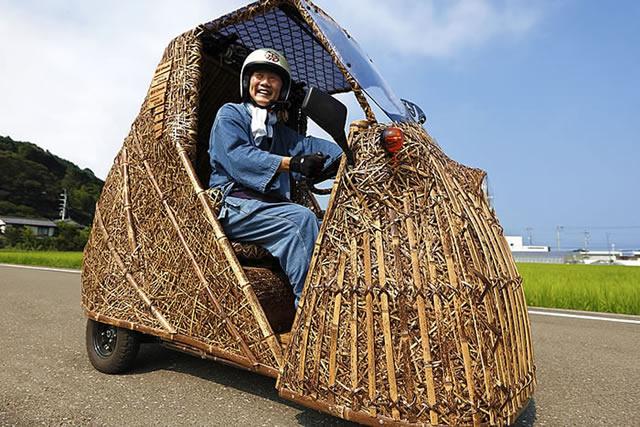 日本唯一の虎竹電気自動車「竹トラッカー」メキシコを走る