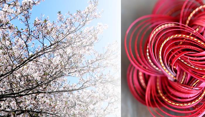 竹レトロブローチ(八重桜)
