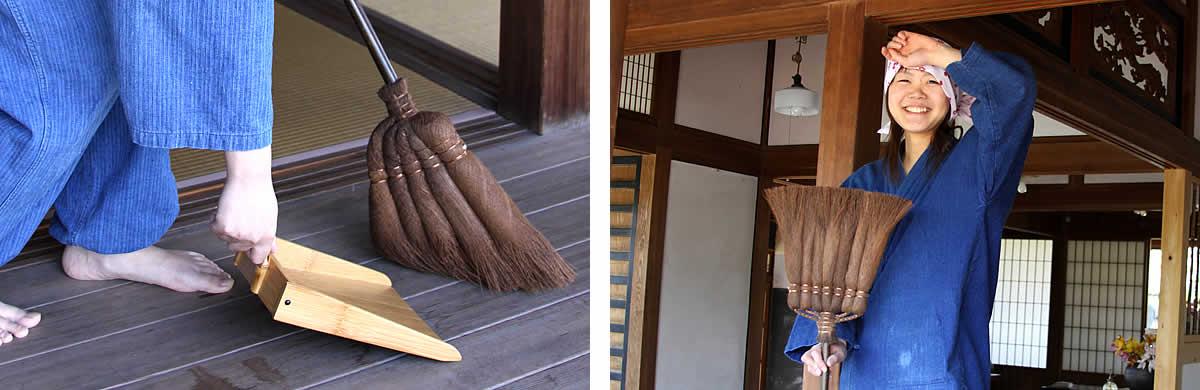 棕櫚箒(シュロほうき)、マンション、アパート