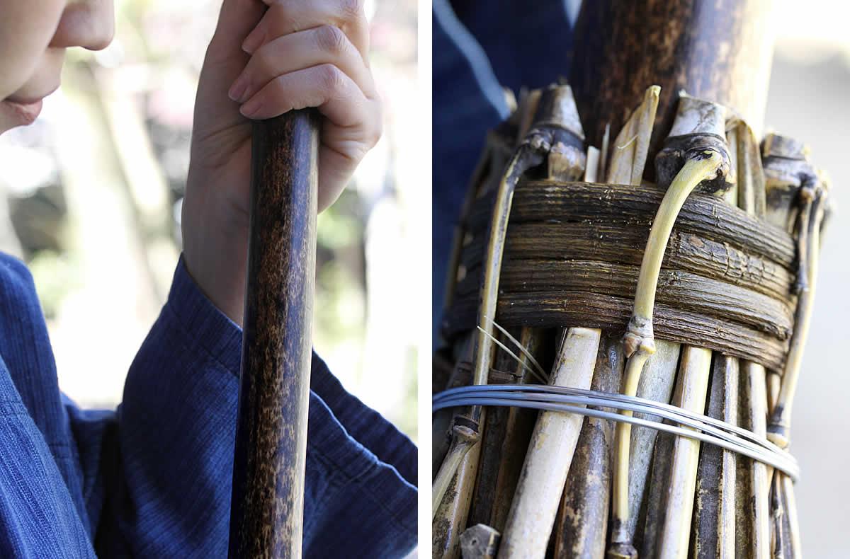 黒竹箒(ほうき)、黒竹、くろたけ、かずら、四万十かずら、カズラ、四万十カズラ