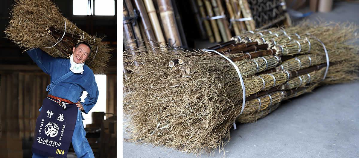 黒竹箒(ほうき)、竹ぼうき、竹箒、竹ほうき、ホウキ、国産、日本製、竹虎