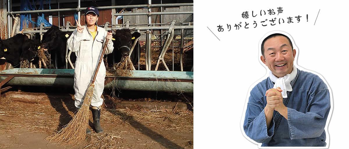 黒竹箒(ほうき)、酪農、餌やり、牛舎、竹ぼうき