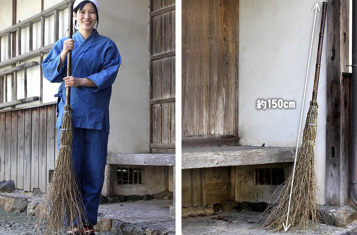 黒竹箒(ほうき)、竹ぼうき、竹箒、竹ほうき、ホウキ、庭仕事、庭掃除、国産、日本製