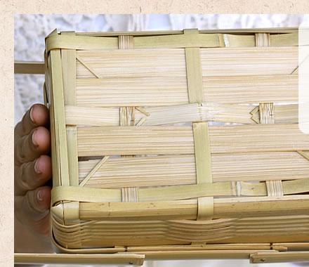 白竹二段ミニ弁当箱(長角)の底部分
