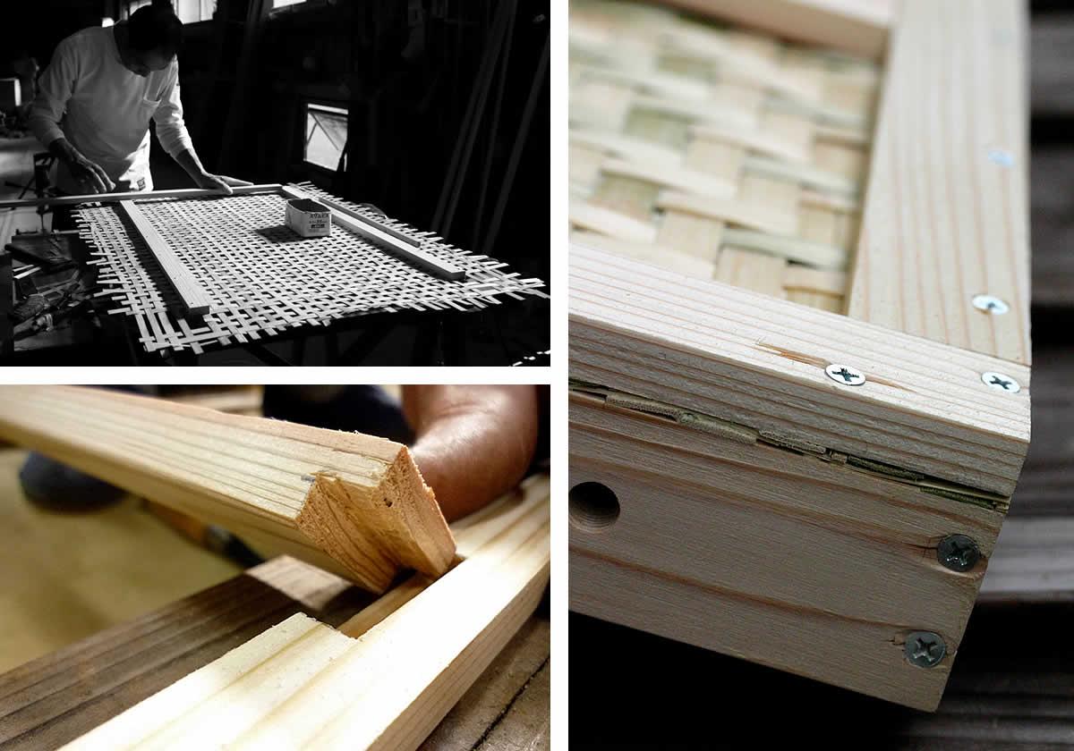 木枠組みと底部分の補強
