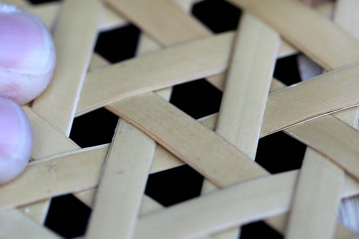 白竹六つ目編み