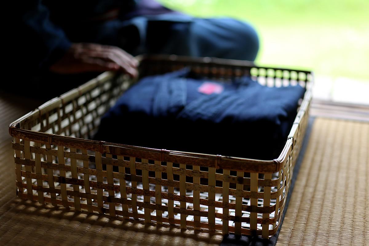 虎竹スクエアバスケット(衣装籠)