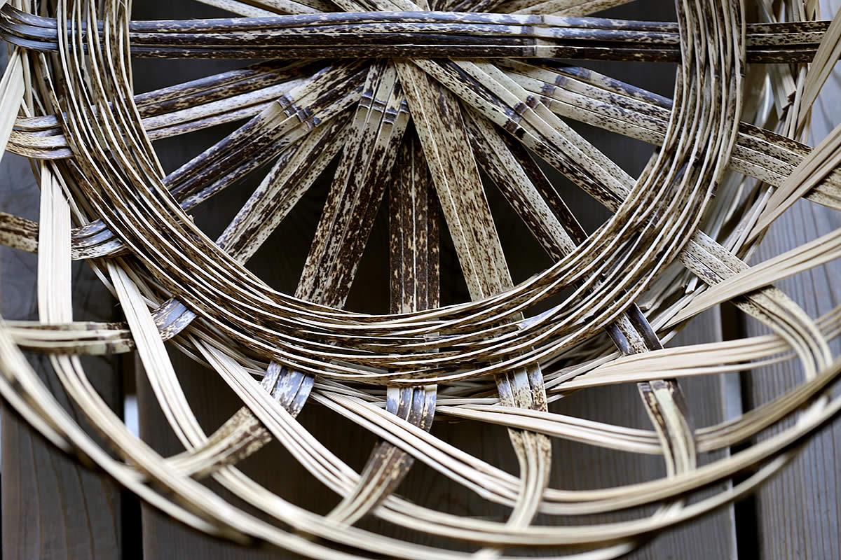 虎竹洗濯籠、虎斑竹