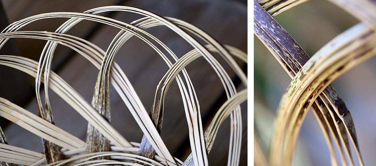 虎竹洗濯籠、曲線美