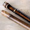 黒竹筒箸箱と虎竹漆箸セット