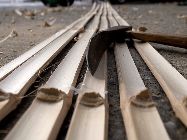 竹の節打ち