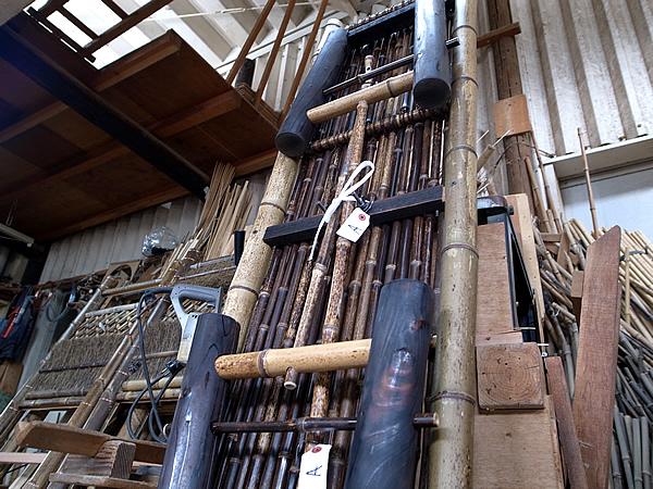 虎竹縁台の荷札