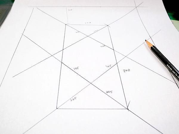 網代籠の図面