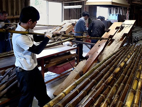 日本唯一の虎斑竹,虎竹,矯め直し,製竹,竹職人