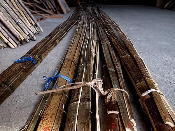 日本唯一の虎斑竹,虎竹,巻き竹,職人,竹,加工