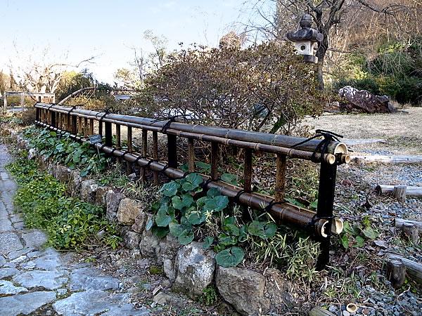 日本唯一の虎斑竹,虎竹,金閣寺垣,垣,施工