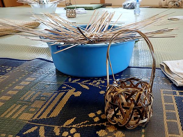 虎竹花籠作り体験
